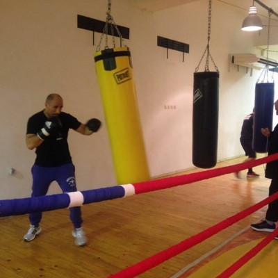 Артур Абрахам с първа тренировка в България