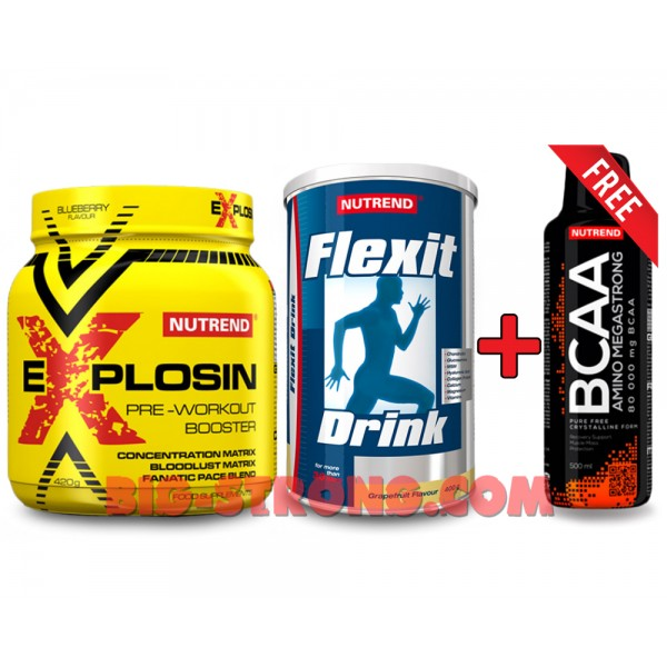 EXPLOSIN + Flexit + BCAA Mega Strong (2+1 FREE)